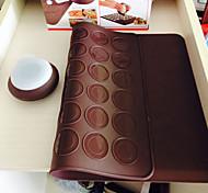 Недорогие -Macarons decaoration установить силиконовую выпечки печенья лист миндальное печенье коврик с украшать перо набор