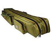 Fishdrops Fishing Bag, 39.6L Huge Capacity Water Proof Navy Green Canvas Bag 120cm* 20cm* 16.5cm