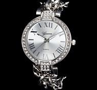 Недорогие -Женские Модные часы Наручные часы Часы-браслет Имитация Алмазный Кварцевый сплав Группа Блестящие Элегантные часыСеребристый металл
