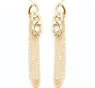 Drop Earrings Crystal Pearl Gold Plated 18K gold Simulated Diamond Alloy Fashion Screen Color Jewelry 2pcs