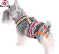 Недорогие -Кошка Собака Брюки Одежда для собак В полоску Цвет в случайном порядке Хлопок Костюм Для домашних животных Косплей Свадьба