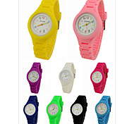 Children's Coloured Silicone Band Analog Wrist Watch Cool Watches Unique Watches Fashion Watch Strap Watch