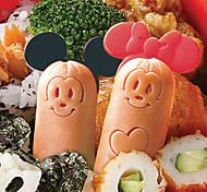 Недорогие -мультфильм мышь колбаса резак формы с кирками обед бенто производителя