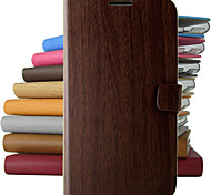modèle en bois cru cuir PU corps entier étui de protection avec support pour iPhone 5c (couleurs assorties)