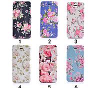 Недорогие -красочные цветок ультра тонкий вид из окна откидная крышка PU кожаный чехол для iPhone 5с (ассорти цветов)