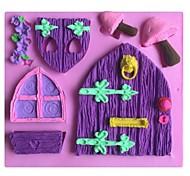 casa do cogumelo bolo fondant de chocolate em forma de molde de silicone, ferramentas de decoração bakeware