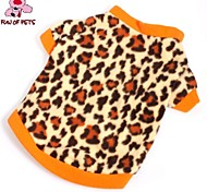 Cat Dog Shirt / T-Shirt Sweatshirt Dog Clothes Fashion Leopard Brown Costume For Pets