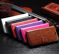Недорогие -2 015 новейший слот откидная крышка поддержка карт фоторамка жирной простой ПУ Mobile Shell телефон Sony e4g разные цвета