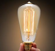 Недорогие -Ecolight™ 1шт 40W E27 E26 / E27 ST64 Тёплый белый 2300k Лампа накаливания Vintage Эдисон лампочка 220-240V
