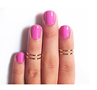Ring Fashion Party Jewelry Alloy Women Midi Rings 1set,One Size Gold