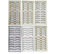cheap -6 Daily Makeup Full Strip Lashes Crisscross Thick Natural Long Makeup Tools High Quality Daily 1cm-1.5cm