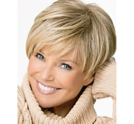 Cheap Women Synthetic Costume Wig Short Blonde Pixie Haircut Mix Straight Wigs