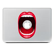Недорогие -красный губы декоративные наклейки кожи для MacBook Air / Pro / Pro с сетчатки дисплей