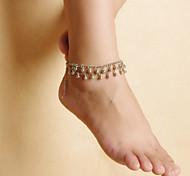модные женщины пляж йога танец падает литые кисти двойной браслеты цепи