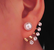 Drop Earrings Pearl Imitation Pearl Rhinestone Simulated Diamond Alloy Jewelry Daily Casual 1 pair