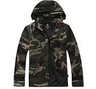 Men's Long Sleeves Camouflage Hunting Jacket Waterproof Windproof Anti-Insect Anti-Fuzz Breathable Jacket Winter Jacket Top for Camping /