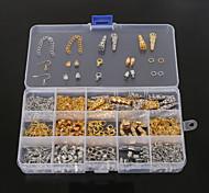 Недорогие -beadia 1set заключения ювелирных изделий застежкой омар&торцевая крышка&кольца прыжок&обжимной бисер&удлинение цепи (aprx