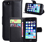 For iPhone 8 iPhone 8 Plus iPhone 6 iPhone 6 Plus Case Cover Wallet Card Holder with Stand Flip Full Body Case Solid Color Hard PU Leather