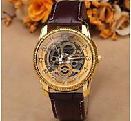 cheap -Fashion Dress Men Watches Skeleton Transparent Stainless Steel Quartz Wrist Watch Women Pretty Watches Luxury Leather Cool Watch Unique Watch