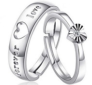 cheap -Women's Sterling Silver Couple Rings - Heart Silver Ring For Daily / Casual / Sports