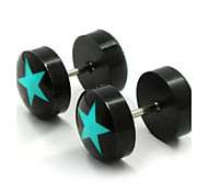 cheap -Men's Women's Stud Earrings Fashion Double Sided Stainless Steel Acrylic Star Jewelry For Daily Casual Sports