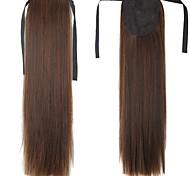 Недорогие -На клипсе Конские хвостики Искусственные волосы Волосы Наращивание волос Прямой
