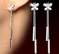 cheap -Women's Drop Earrings Sterling Silver Alloy Jewelry Silver Daily Casual Sports Costume Jewelry