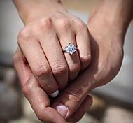 Women's CZ Diamond Engagement Wedding Rings Classical Feminine Style