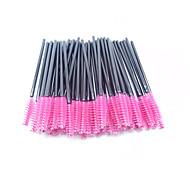 50Pcs/Set Disposable Eyelash Makeup Brush Mascara Wands Applicator (Color: Pink)