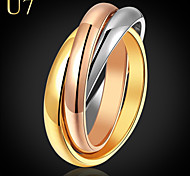cheap -Women's Stainless Steel / Gold Plated / Rose Gold Plated Ring - Vintage / Party / Work Rainbow Ring For Daily