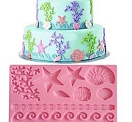 baratos -rendas fondant molde do bolo decoração do molde cor aleatória fm-09
