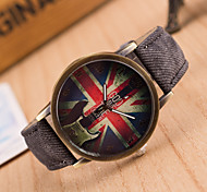Women's European Style Guitar Flag Fashion Retro Casual Canvas Watches Cool Watches Unique Watches Strap Watch