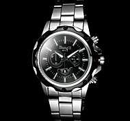 baratos -Homens Quartzo Relógio de Pulso Relógio Casual Lega Banda Amuleto Prata