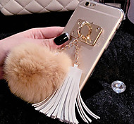 For iPhone 7 Plus Luxury Rabbit Hair Ball Tassel Pendant TPU Cases for iPhone 6s 6 Plus SE 5s 5