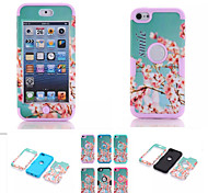 cheap -Cherry Blossom Pattern High Quality Snap-on PC + Silicone Hybrid Combo Armor Case Cover for iPod touch 6