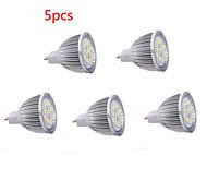 5pcs mr16 5w привело прожектор 15 smd5630 650 lm теплый белый холодный белый декоративный dc12v