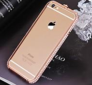 Недорогие -высокое качество металла бампер рама с алмазом для iphone 6с плюс / 6 плюс (ассорти цветов)
