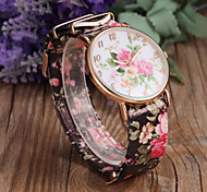 cheap -Women's Quartz Wrist Watch Casual Watch PU Band Flower Fashion Black White Green Pink Purple Multi-Colored