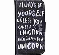 быть собой шаблон PU кожаный чехол с слот для карт и стоять Samsung Galaxy S4 мини / s3mini / s5mini / S3 / S4 / S5 / S6