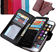 For iPhone 8 iPhone 8 Plus iPhone 7 iPhone 7 Plus iPhone 6 iPhone 6 Plus Case Cover Wallet Card Holder Flip Full Body Case Solid Color