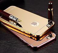 покрытие зеркало обратно с телефона случае металлический каркас для iPhone / 6с 6plus плюс (ассорти цветов)