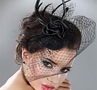Rose Flower Black Lace Fascinators Hair Jewelry