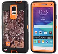 Недорогие -Кейс для Назначение SSamsung Galaxy Samsung Galaxy Note Защита от удара Кейс на заднюю панель броня ПК для Note 4 Note 3