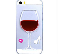 Flowing Liquid Water Wine Glass Pattern TPU Back Cover Case for iPhone 5/5S