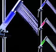 Недорогие -LED Душевые лейки с подсветкой Пластик