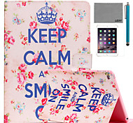 cheap -LEXY® Keep Calm Pattern PU Leather Flip Stand Case with Screen Protector and Stylus for iPad Air 2/iPad 6