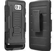 Недорогие -Кейс для Назначение SSamsung Galaxy Samsung Galaxy Note7 Защита от удара со стендом Кейс на заднюю панель броня ПК для Note 7 Note 5 Note