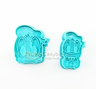 2016 New Cute Cartoon Animal 3D Biscuit Mold Donald Duck Cookie Cutters and Stamps
