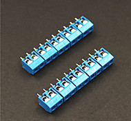 cheap -2 Pin 5.0mm Terminal Blocks Connectors - Blue (5-Piece)