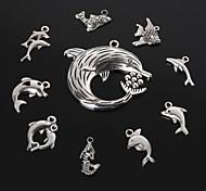 Beadia Antique Silver Metal Dolphin Shark Mermaid  Fish Charm Pendants DIY Jewelry Pendant 10 Styles
